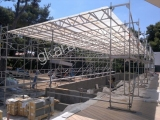 SCAFFOLD STAGE ROOF FOR CONSTUCTIONS IN A POOL-VARKIZA